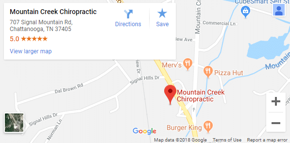 Map of Chattanooga Chiropractors